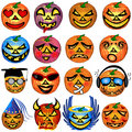 Pumkin Icons Set 1 Royalty Free Stock Photos