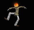 Pumkin man pumpkin halloween character d render Stock Images