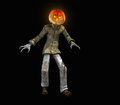 Pumkin man pumpkin halloween character d render Royalty Free Stock Images