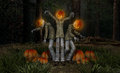 Pumkin men pumpkin halloween characters d render Royalty Free Stock Photography
