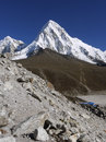 Pumori seven thousand mountain near mt everest Royalty Free Stock Images