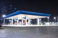 Pump gas on night.