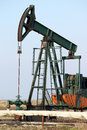 Pump jack close up oil industry Stock Photo