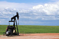 Pump jack on the prairie Stock Photography