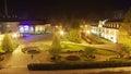 Pump room in kudowa zdroj poland at night the lower silesia Stock Photos
