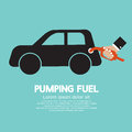 Pumping fuel graphic vector illustration Stock Photos