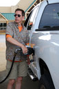 Pumping Gas Stock Photos