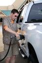 Pumping Gas Royalty Free Stock Photo