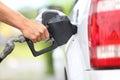 Royalty Free Stock Photo Pumping gas at gas pump