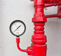 Pumping and valve control Royalty Free Stock Photo