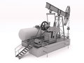 Pumpjack isolated Royalty Free Stock Photo