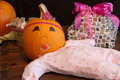 Pumpkin baby princess at a shower Royalty Free Stock Photos