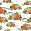Pumpkin Background seamless pattern Stock Image