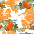 Pumpkin Background seamless pattern Royalty Free Stock Photography