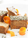 Pumpkin cake Stock Images