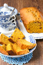 Pumpkin cake Royalty Free Stock Photos