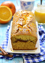 Pumpkin cake with cinnamon,orange and honey glaze. Royalty Free Stock Photo