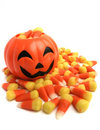 Pumpkin And Candy Corn Stock Images