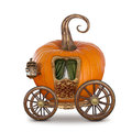 Pumpkin carriage isolated on white background Royalty Free Stock Photo