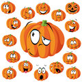 Pumpkin cartoon Royalty Free Stock Photos