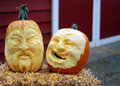 Pumpkin carvings at snohomish wa patch and corn maze Royalty Free Stock Photos