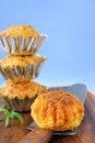 Pumpkin-Cheese Muffins Stock Photography