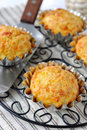 Pumpkin-Cheese Muffins Stock Photo