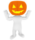 Pumpkin costume high class rendered figure for perfect message transportation Royalty Free Stock Photos