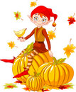 Pumpkin elf Stock Photo