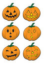 Pumpkin faces Stock Photography
