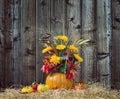 Pumpkin Flower Arrangement Aga...