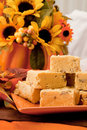 Pumpkin Fudge Royalty Free Stock Images