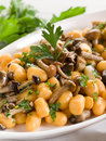 Pumpkin gnocchi with mushroom Stock Photography