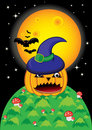 Pumpkin Halloween Card Royalty Free Stock Images