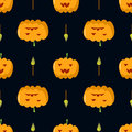 Pumpkin halloween seamless pattern candle