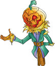 Pumpkin head colored isolated illustration Royalty Free Stock Images