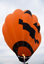 Pumpkin hot air balloon Royalty Free Stock Photo