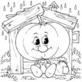 Pumpkin in a hut Royalty Free Stock Photos