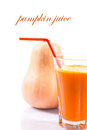 Pumpkin juice fresh on a white background Stock Photography