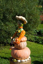 Pumpkin lady figurine Royalty Free Stock Photos