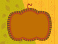 Pumpkin note vector illustration of a with a blank area and different patterns in the background eps Stock Photo