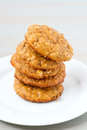 Pumpkin oat cookies Royalty Free Stock Photo