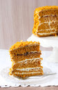 Pumpkin and orange layered cake Stock Image