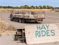 Pumpkin Patch hay ride Royalty Free Stock Photo