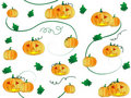 Pumpkin pattern Stock Photography