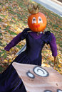 Pumpkin person princess Stock Photography