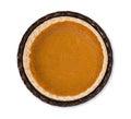 Pumpkin Pie Isolated On White