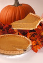 Pumpkin pie slice Royalty Free Stock Images