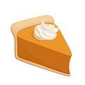 Pumpkin pie slice. Vector Royalty Free Stock Photo