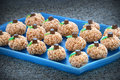 Pumpkin Rice Krispie Treats Royalty Free Stock Photo